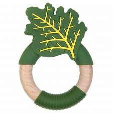 Superfood Cabbage Teether in Wood and Food Grade Silicone