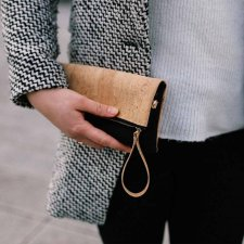 CERRIS Clutch Bag in Cork and recycled felt from plastic bottles