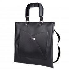 Shopper bag & Backpack in vegetable faux-leather and recycled pvc