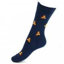 Short Socks Fox BLUE in organic cotton