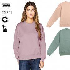 Boxy woman sweatshirt in organic cotton
