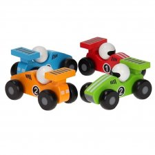 Race cars for small children in ecological wood