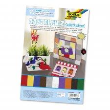 Self-adhesive craft felt 10 sheets