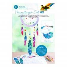 DIY dream catcher kit for children. Color and paste