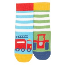 Rescue grippy socks 2pairs in organic cotton