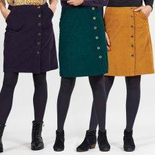 Cotton Cord Button Through Skirt