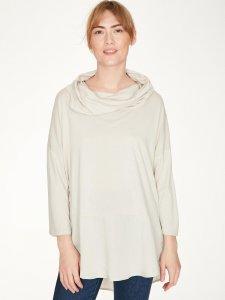 Carole Bamboo Jersey Woven Drape Top