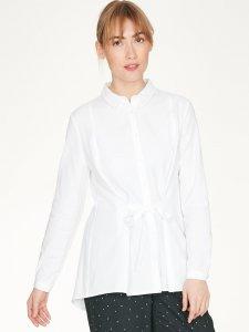 Christie Organic Cotton Tie Waist White Shirt