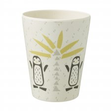 Penguins bamboo glass for children