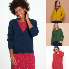 CARDIGAN VALKA for women in pure organic cotton