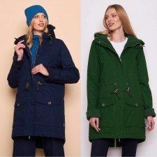 JUNA women's jacket in organic cotton and fleece