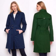 LEONORA women's trench coat in organic cotton and fleece