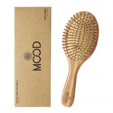 Oval wooden hairbrush