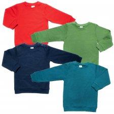 Unisex children's sweatshirt in 100% organic cotton