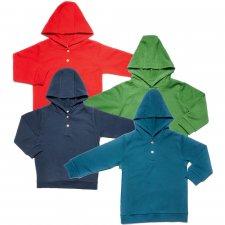 Hooded sweatshirt for children in 100% organic cotton