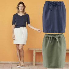 Grace Woman Skirt in Linen and Organic Cotton