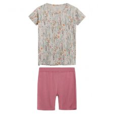 Short pajamas Fiorellini for girls in bamboo