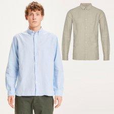 Long-sleeved men's shirt in organic cotton and organic linen