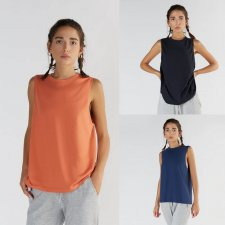 Sport Loose Fit Tank Top in Organic Cotton and Micromodal