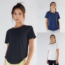 Sport Loose Fit T-shirt in Organic Cotton and Micromodal