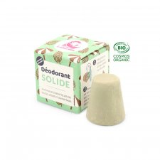 Solid deodorant with essential oils of sage, cedar and ravintsara