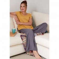 Wide leg trousers in sustainable viscose