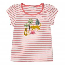 Leopard baby t-shirt in organic cotton