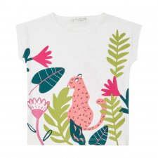 Girls T-shirt in Pink Leopard in organic cotton