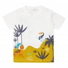 Colourful organic cotton Baby Shirt in jungle Print