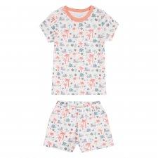 Short Children's Pyjama Savanna Coral in organic cotton