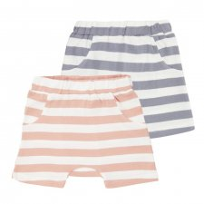 Light Striped Baby Shorts in organic cotton
