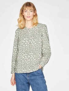 Harper Printed Puff Sleeve Organic Cotton Modal Blouse