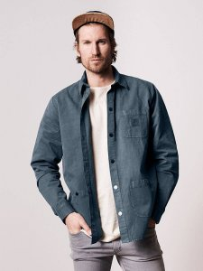 Men's hemp shirt-jacket