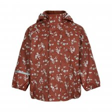 Waterproof jacket for children in recycled polyester - little flowers and swallows