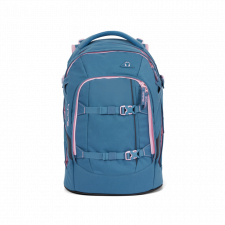 Ergonomic backpack for secondary school in Recycled Pet - Satch Pack Deep Rose