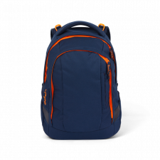 Ergonomic backpack Satch Sleek Toxic Orange for secondary school in Recycled Pet