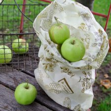 beeskin BAG L - 25x45 cm in organic cotton and beeswax