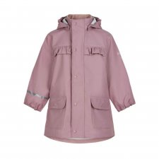 Mauve raincoat for girls in recycled polyester