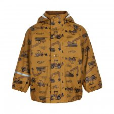 Waterproof jacket for children in recycled polyester - Sharks and Bulldozer