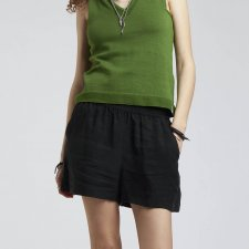 Shorts THANA for woman in Vegetable Silk and Sustainable Viscose