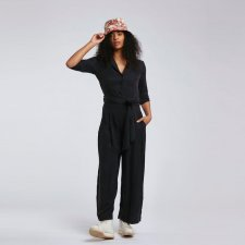 PLANET Jumpsuit in Vegetable Silk and Sustainable Viscose