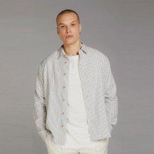 DELLER men's striped shirt in 100% Organic Cotton