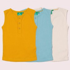 Essential ribbed Summer Vest for kids in pure Fairtrade Organic Cotton