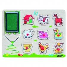 Farm Animals Wood Stamps