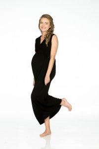 Maxi Crochet Nursing Dress in Tencel ™