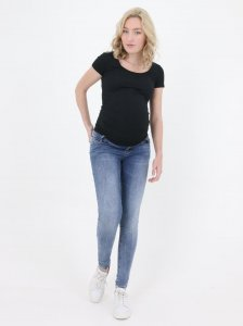 Sustainable Jeans for Pregnancy super skinny stone wash