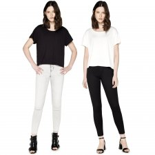 Women's Boxy T-shirt in ECOVERO ™ Viscose and Organic Cotton