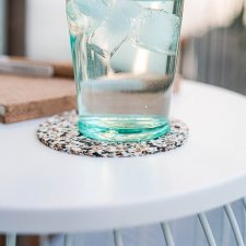 Mads 6-piece coasters in pure recycled Cork
