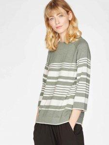 Sail La Vie Striped Organic Cotton & Wool Blend Jumper