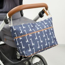 Nursery Bag Giraffe for stroller in organic cotton